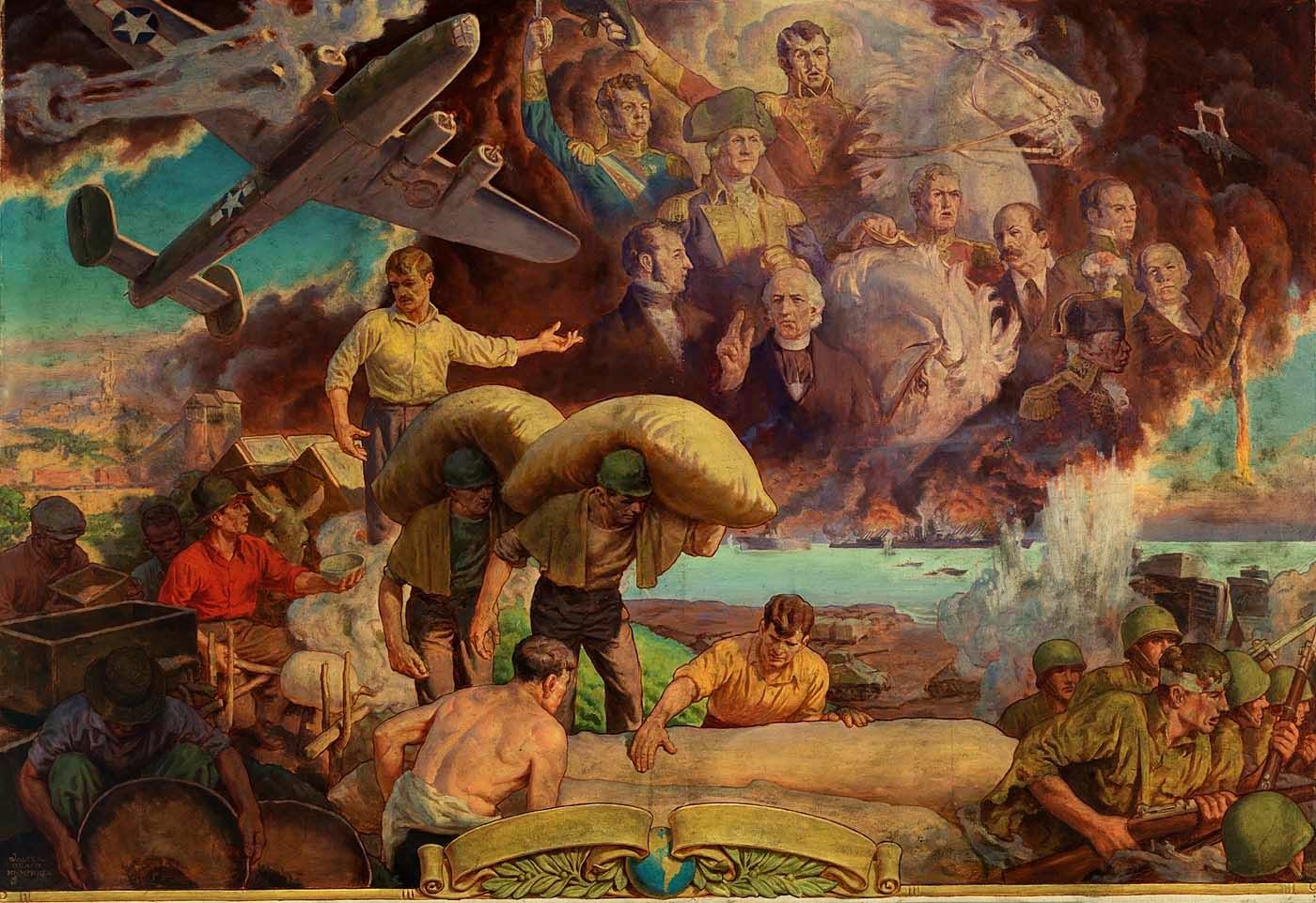 art contrarian  walter beach humphrey  murals and magazine