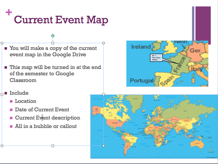 Current Event Map on