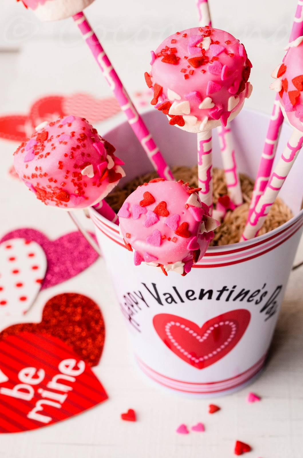 Marshmallow Pops for my little Valentine