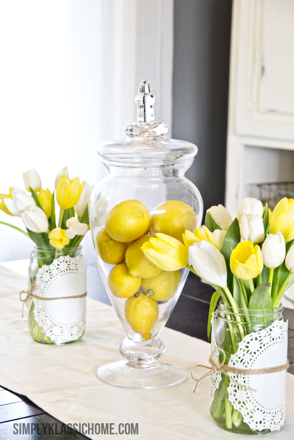 How To Create An Easy Spring Centerpiece On The Cheap Yellow Bliss Road