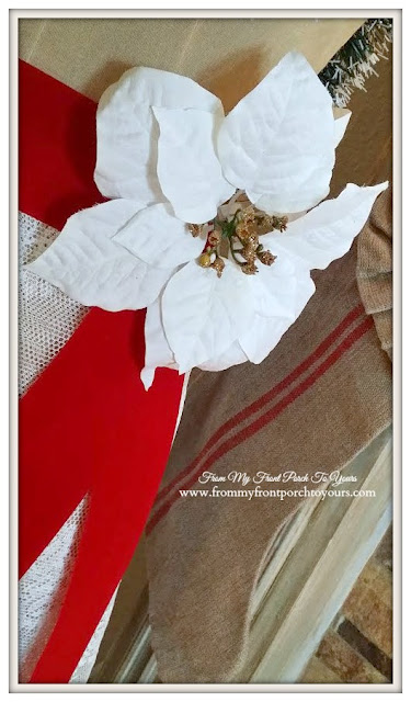 Christmas Dressed Dress Form-Antique Farmhouse Dress Form-From My Front Porch To Yours