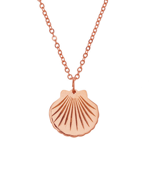 The Funky Monkey Samantha Faye Rose Gold Shell Necklace