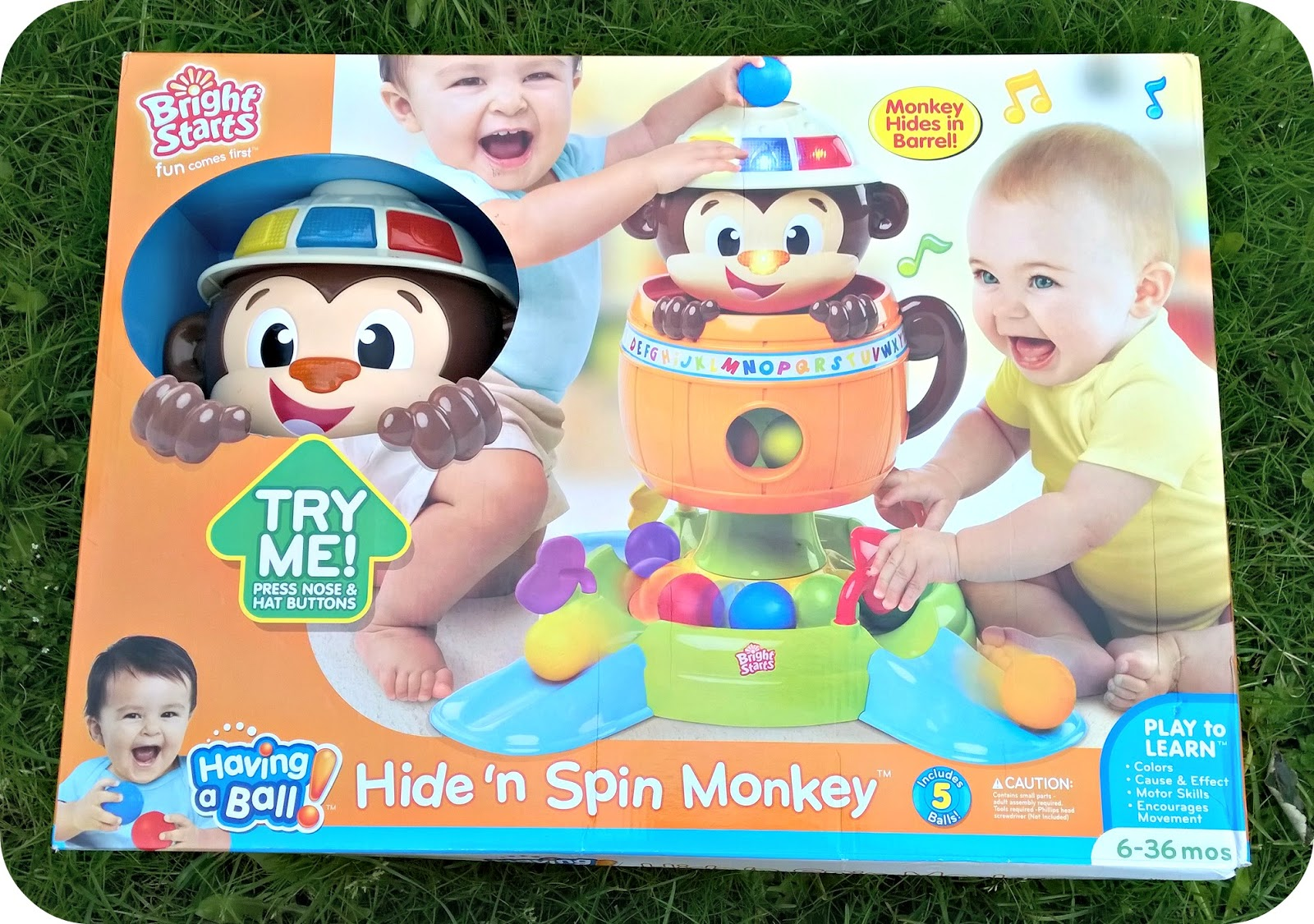 bright starts hide and spin monkey instructions
