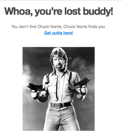 Rarview, Chuck Norris, 404 page