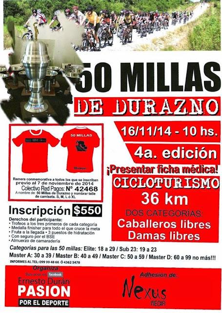 MTB - 50 millas de Durazno (16/nov/2014)