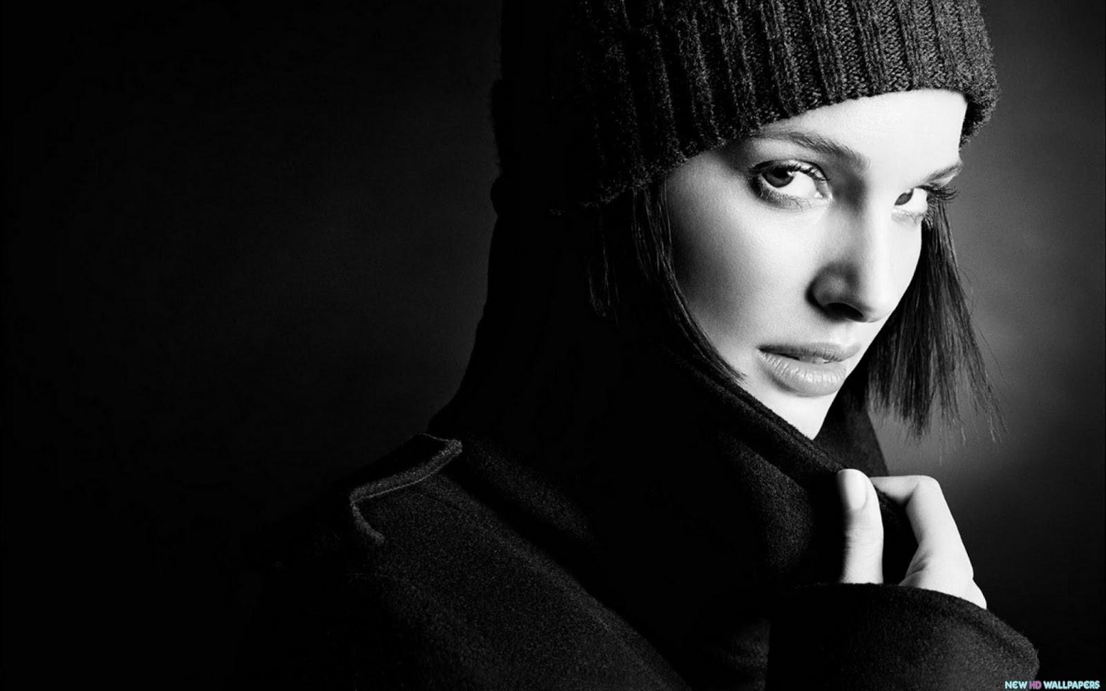 Natalie Portman Beautiful Winter Cap Wallpaper HD