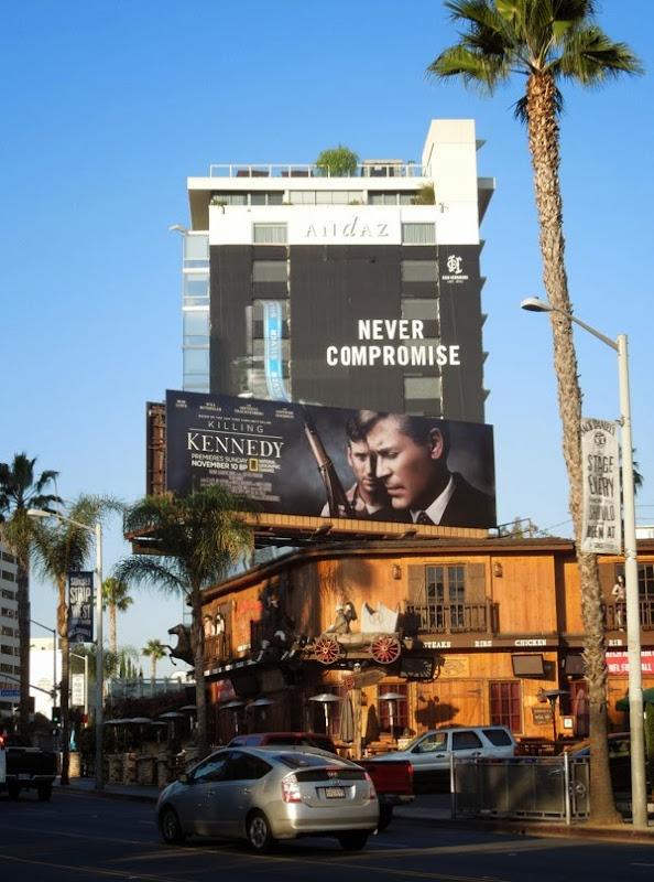 Killing Kennedy billboard Sunset Strip