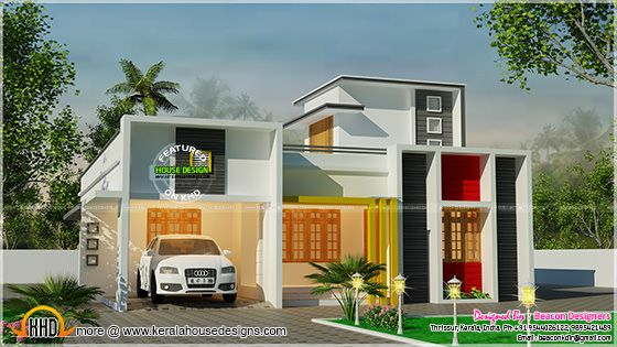 One floor flat roof, 3 bedroom house