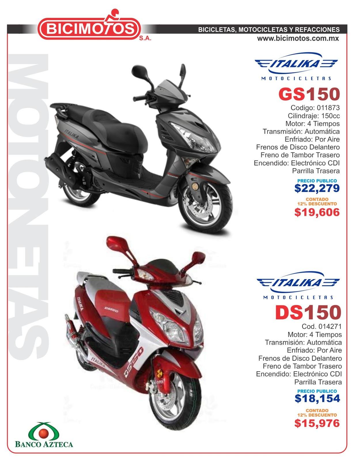Bicimotos yucatan motocicletas italika 2013 en promocion