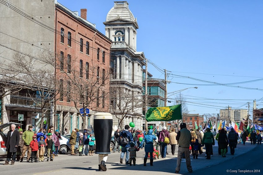 Portland, Maine March 2014 St. Patrick's Day Parade Commercial Street photo by Corey Templeton