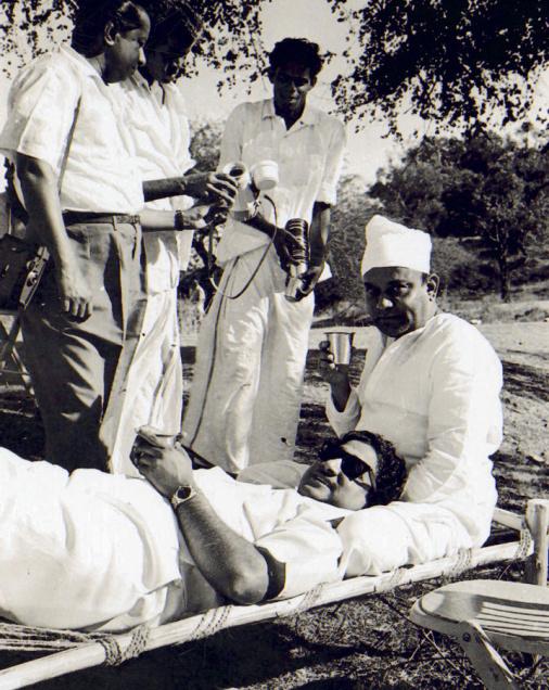 Shivaji Ganesan & Director Banthulu in Shooting Spot