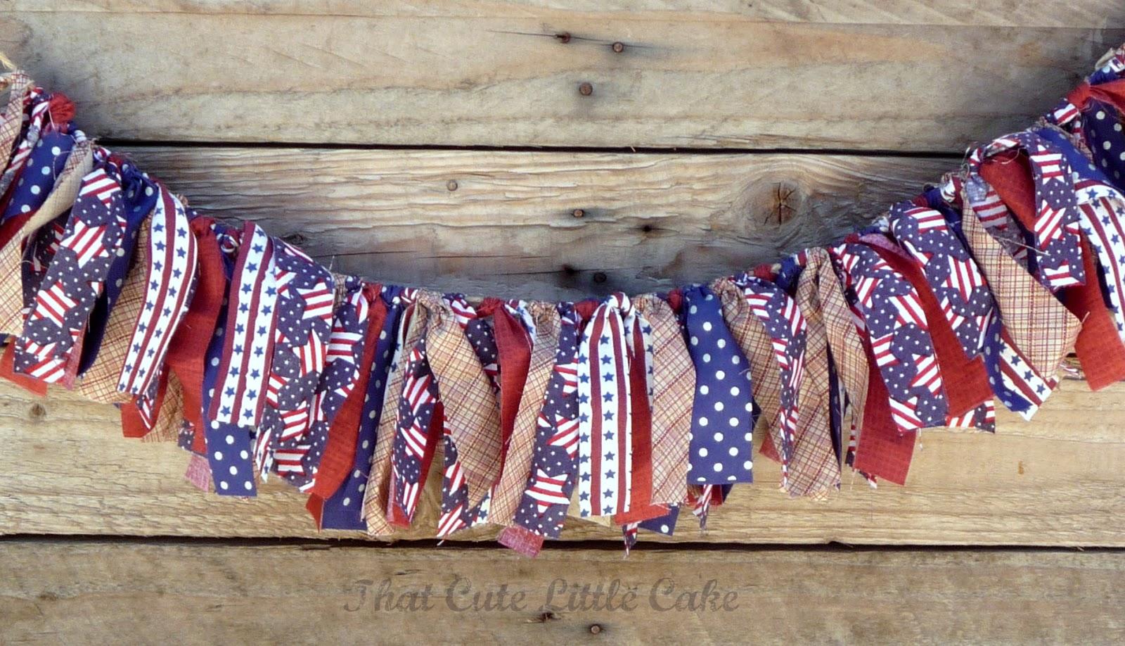 July 4th Patriotic Scrap Fabric Banner DIY | CatchMyParty