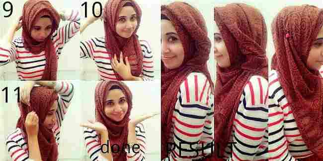 Tutorial Hijab untuk Pipi Tembem