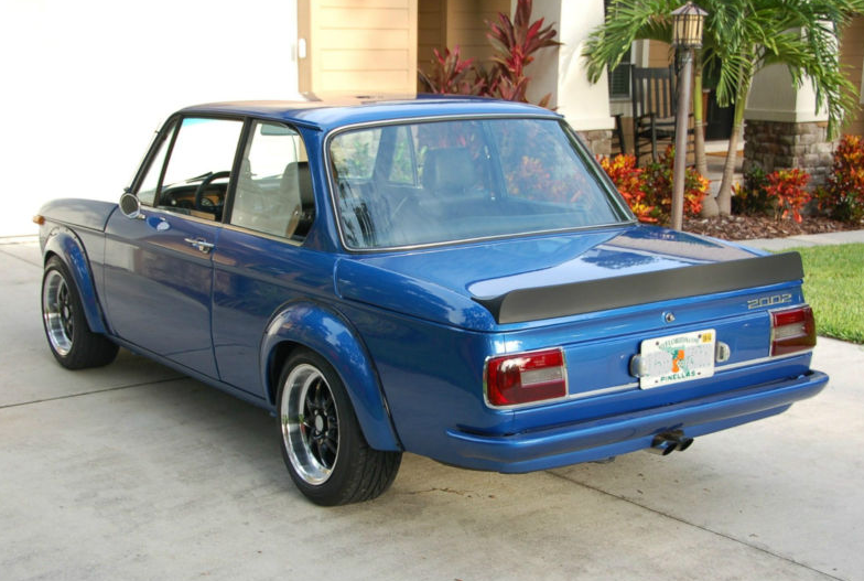 1974 bmw 2002 estoril blue, turbo body – groosh's garage