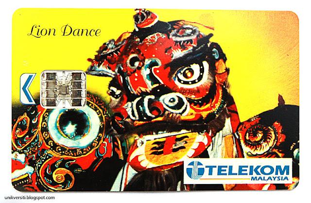 kad telefon awam Telekom Malaysia - Lion Dance