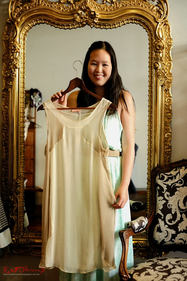 Kelly Chan with a blouse from her label Kelly - Photographed by Kent Johnson.