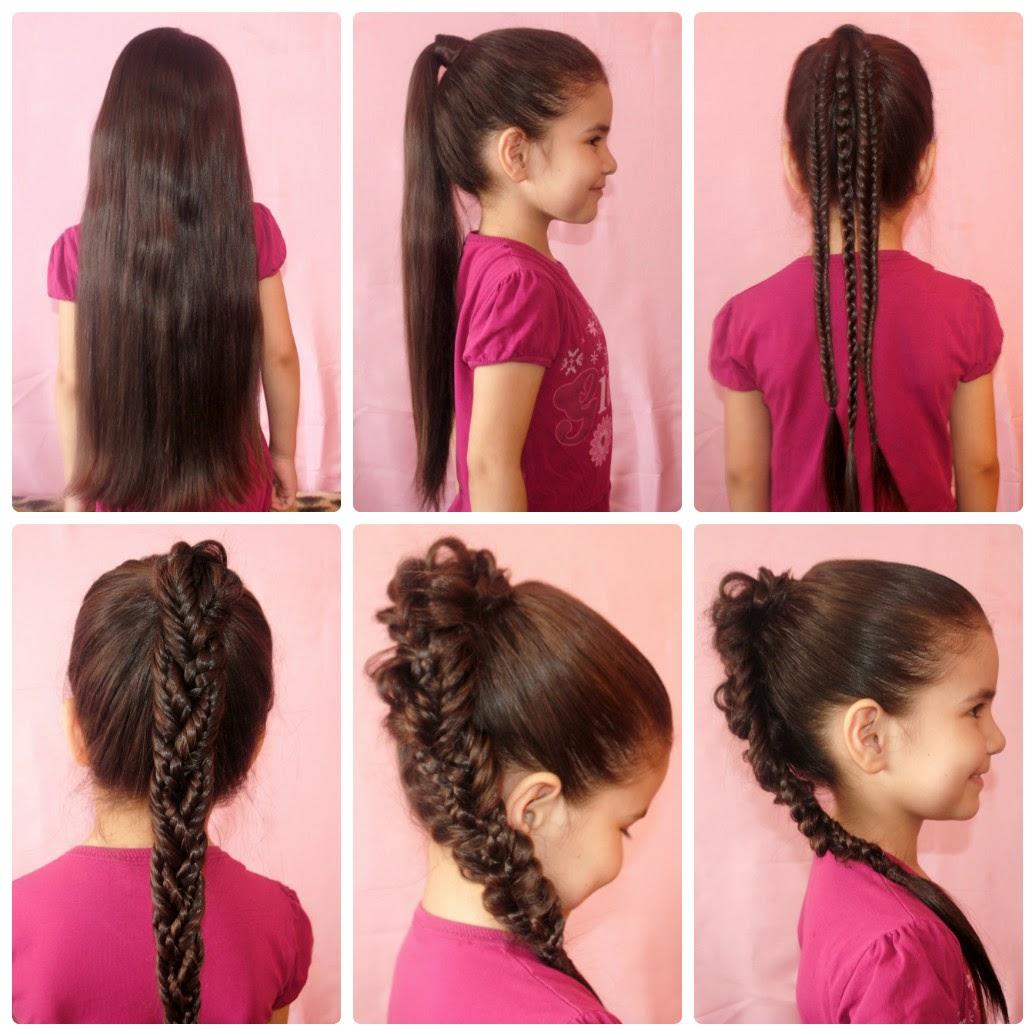 картинки волосы длинные школу в прически на