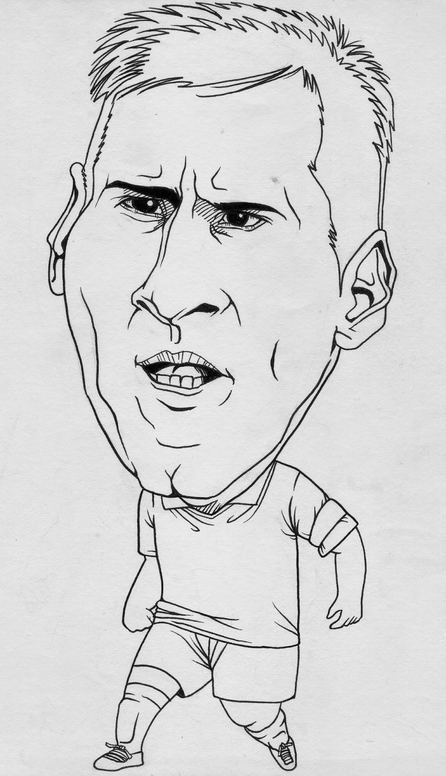 Tutorial Membuat Karikatur Messi Catatan Anak Mami