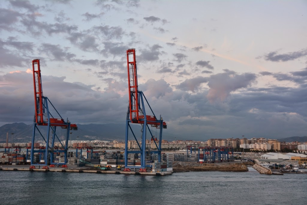 Port of Malaga container movers