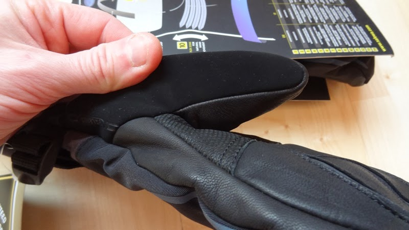 Leather palm in Salewa Gore Tex Mittens