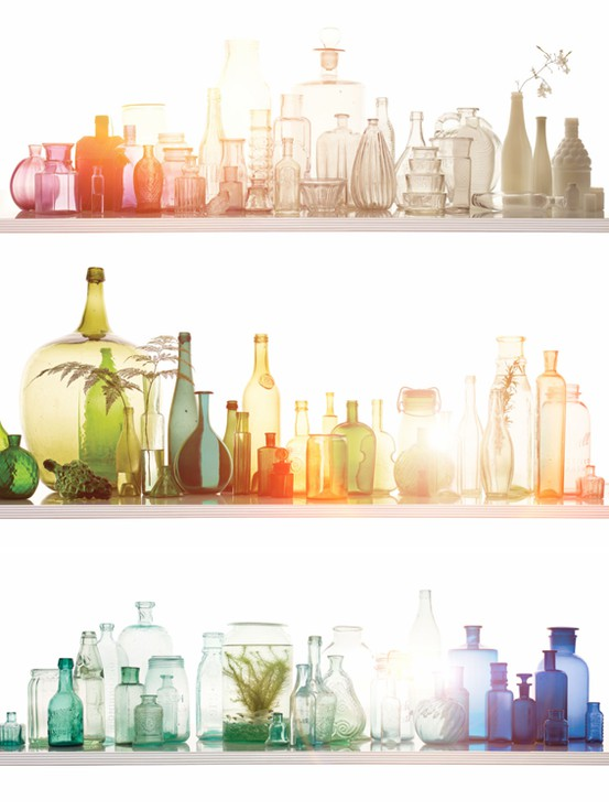 colored bottles_johnny miller photography