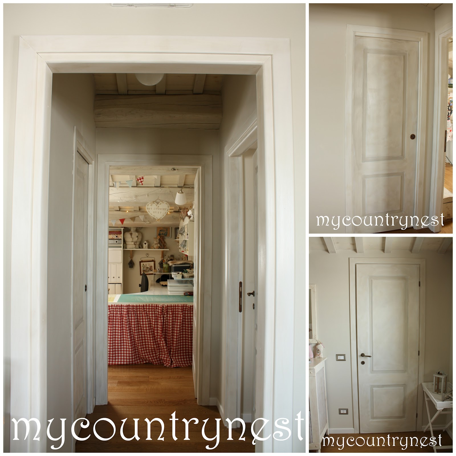 My country nest effetto country shabby per le porte di - Porte country chic ...
