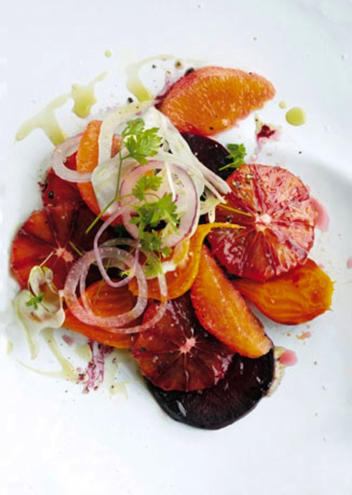on the menu: blood orange, beet, and fennel salad - Sacramento Street