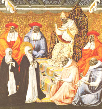 St. Catherine and Pope George XI