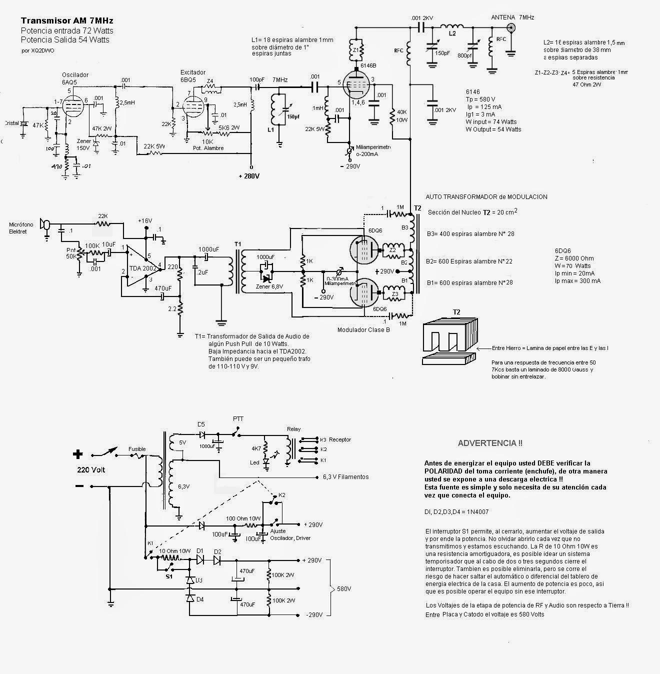 Circuito Tanque : Lu dcs transmisor de am watts salida para las
