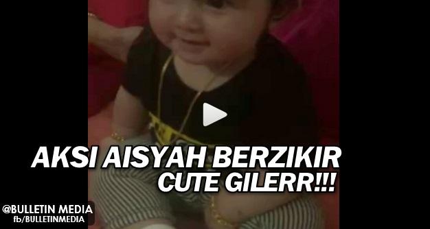 Aksi Aisyah Berzikir dan Bertasbih Selepas Terawih Dengan Mummy Che ta ini Memang Cute Gilerr!!!