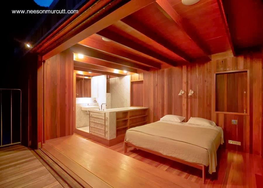 Un dormitorio en suite en el tope de la casa