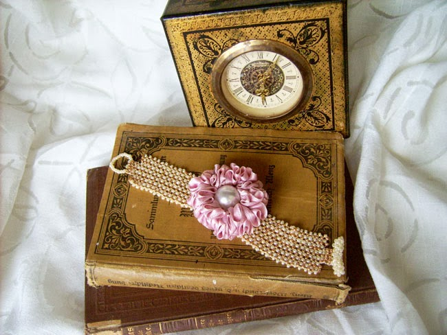 Marie Antoinette bracelet, Marie Antoinette jewelry, vintage books, vintage clock
