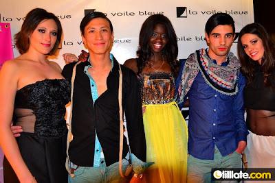 Céline, Jean-Philippe, Aminata, Maxime et Mégane qui ont défilés à la Voile Bleue, coiffés et maquillés par le Studio 54, habillés par la Chemise Française, la boutique le Détour et le créateur Thibaut Vasseur.