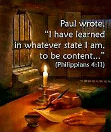 Philippians 4 : 11