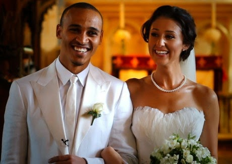 Peter Odemwingie with sexy, Wife Sarah Fallon