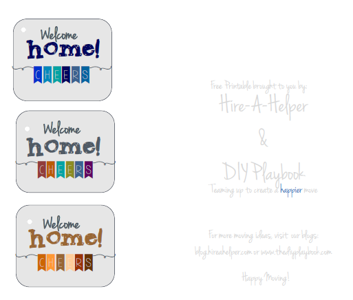 Here are festive Welcome Home tags from our free printables!