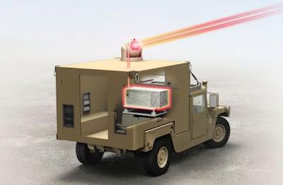 Laser Raytheon pada HMMWV