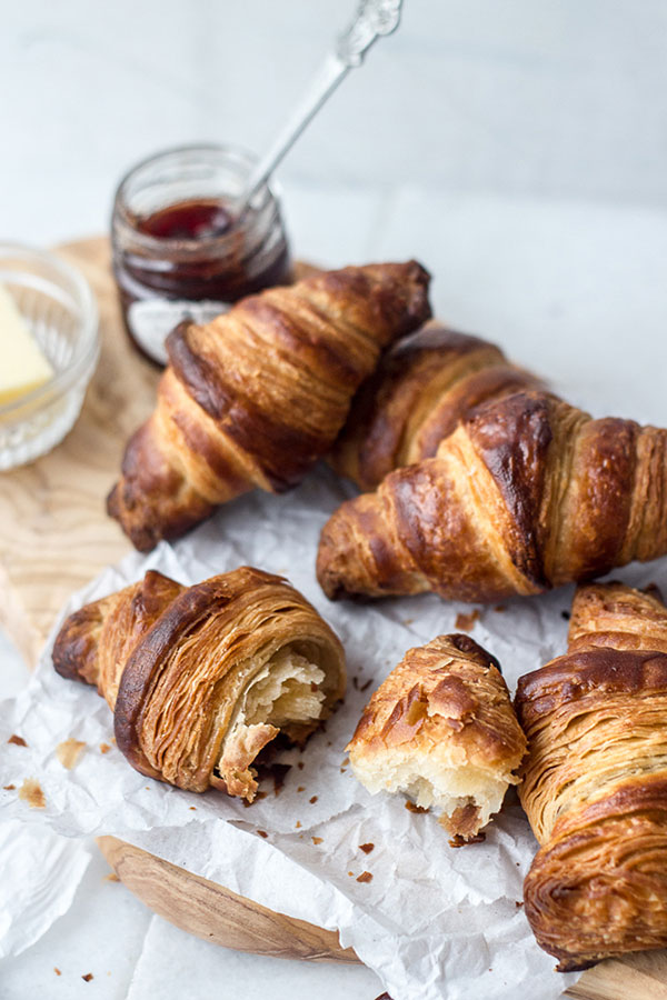 {table for two   recipe : buttery croissants}