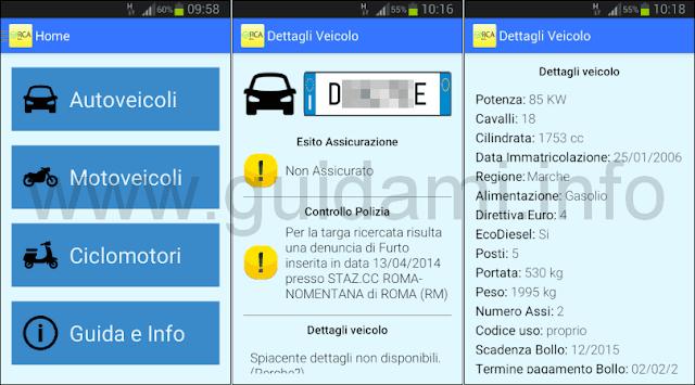 Verifica RCA Italia app Android