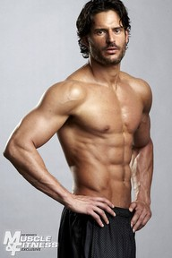 Shirtless Joe Manganiello in a Muscle & Fitness photo shoot