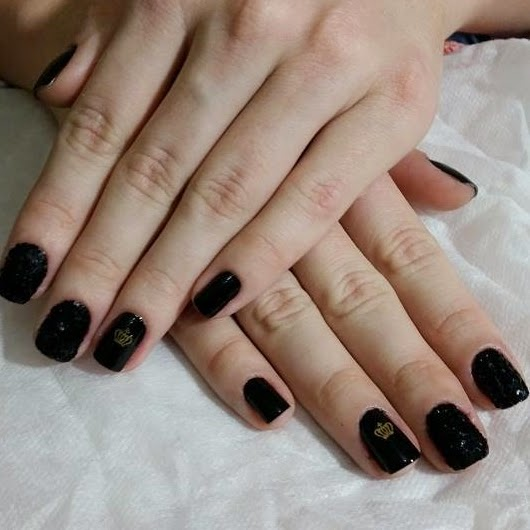 unhas pretas, unhas decoradas, ana barbosa