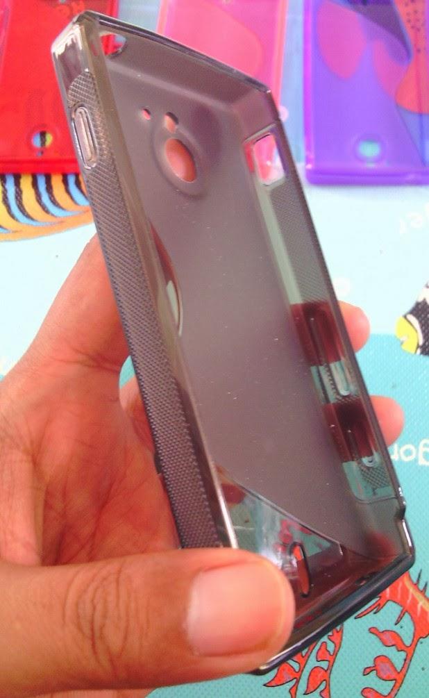 TPU Jelly Case for Sony Xperia Sola MT27i - Grey