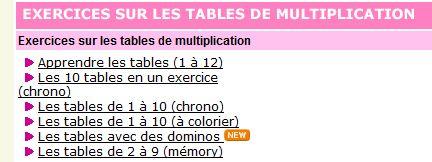 Scorpions des ardoises apprendre les tables de for Table de multiplication apprendre