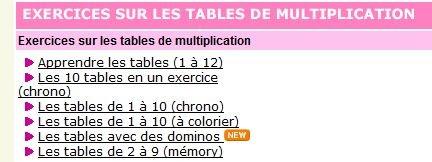 Scorpions des ardoises apprendre les tables de - Apprendre les tables de multiplication de facon ludique ...