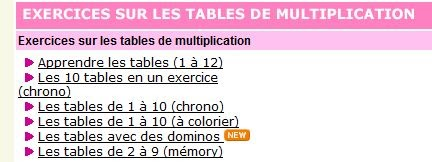 Jeu de lulu table de multiplication 28 images for Comment apprendre les tables de multiplication en jouant