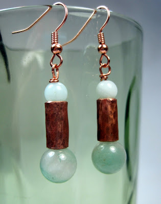 Copper and Amazonite Earrings
