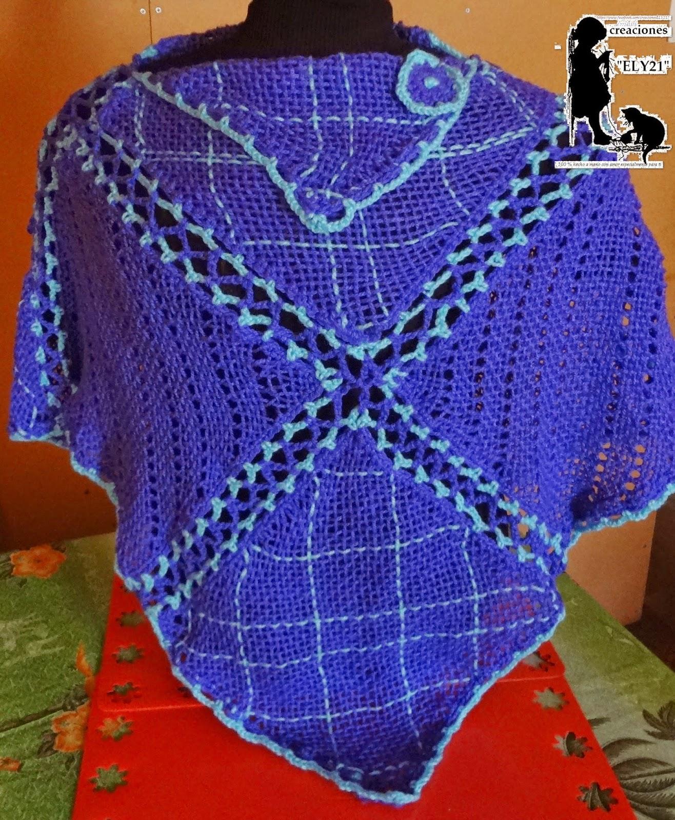 ELY creaciones: ponchos tejidos en telar cuadrado