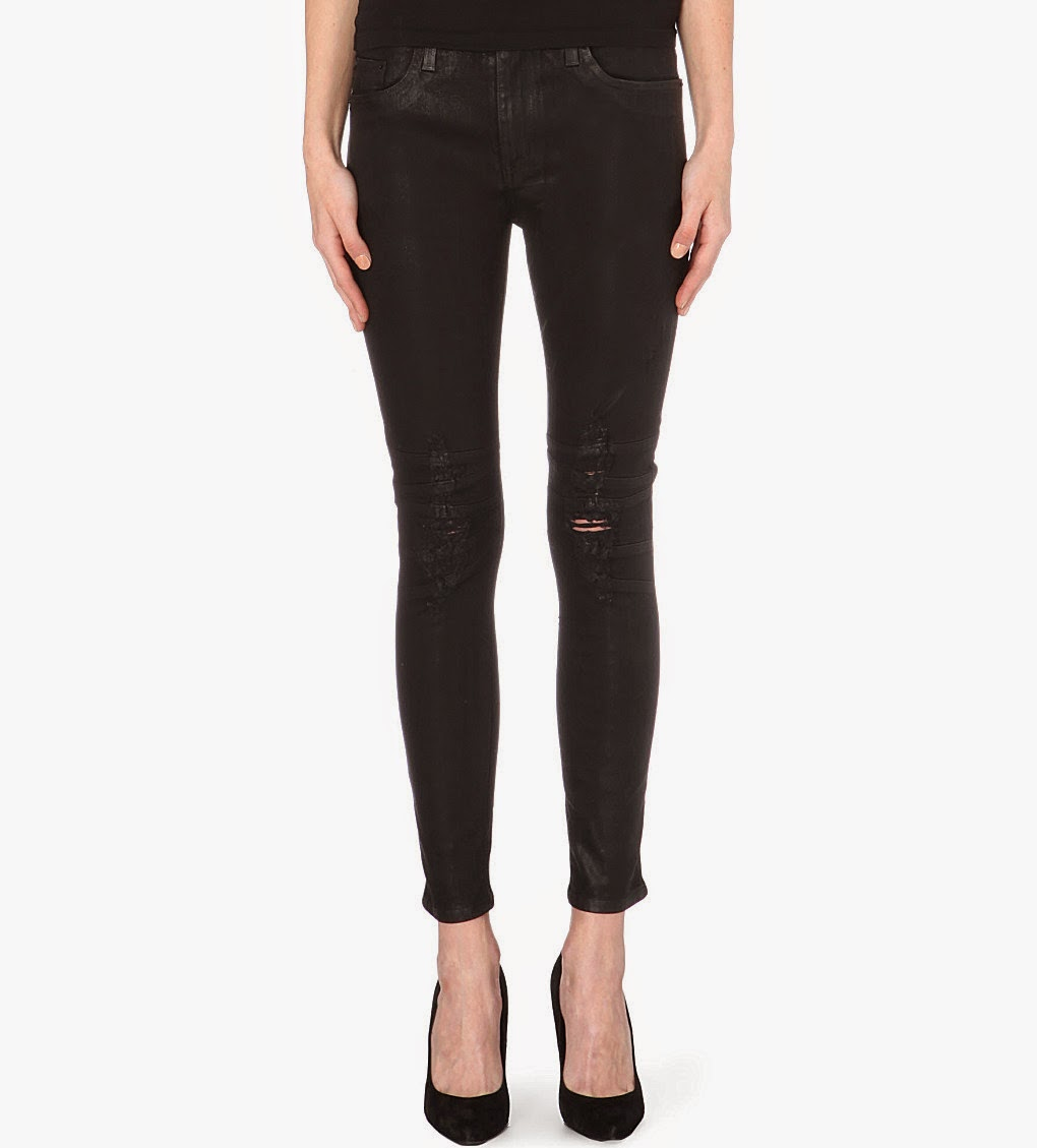 hudson coated jeans