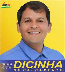 DICINHA DO CALÇAMENTO - Vereador reeleito para o mandato 2021/2024