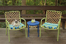 Handcrafted Life Spray Paint Patio Furniture Makeover